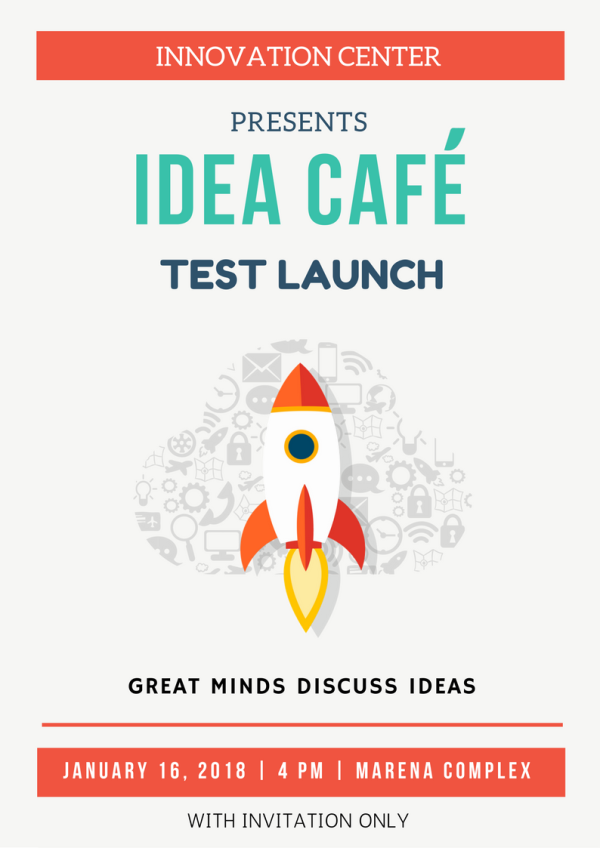 Test launch of the Idea Café at the Marena, Manipal Arun Shanbhag