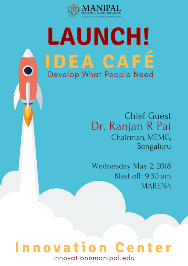 launch of the Idea café at Manipal
